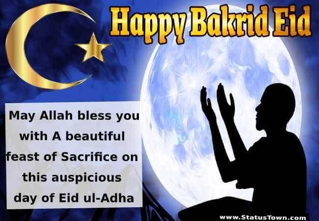 Bakrid Eid Wishes in english