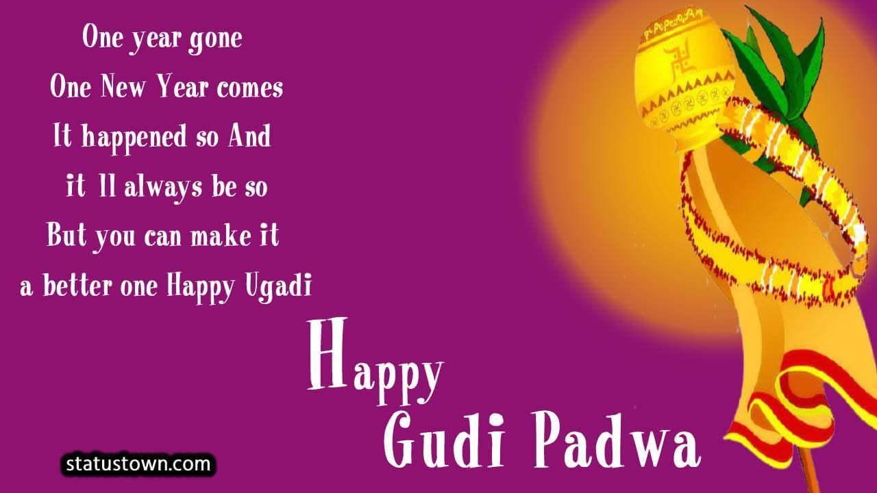 Happy Gudi Padwa Status in English