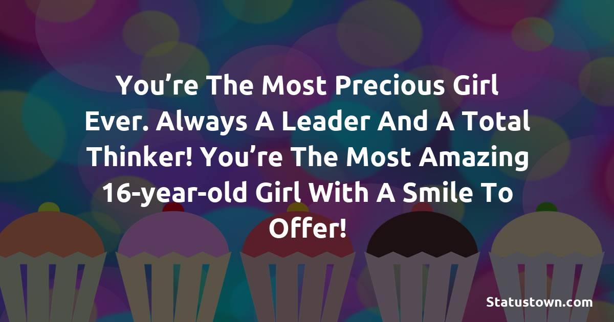 Short 16th Birthday Wishes