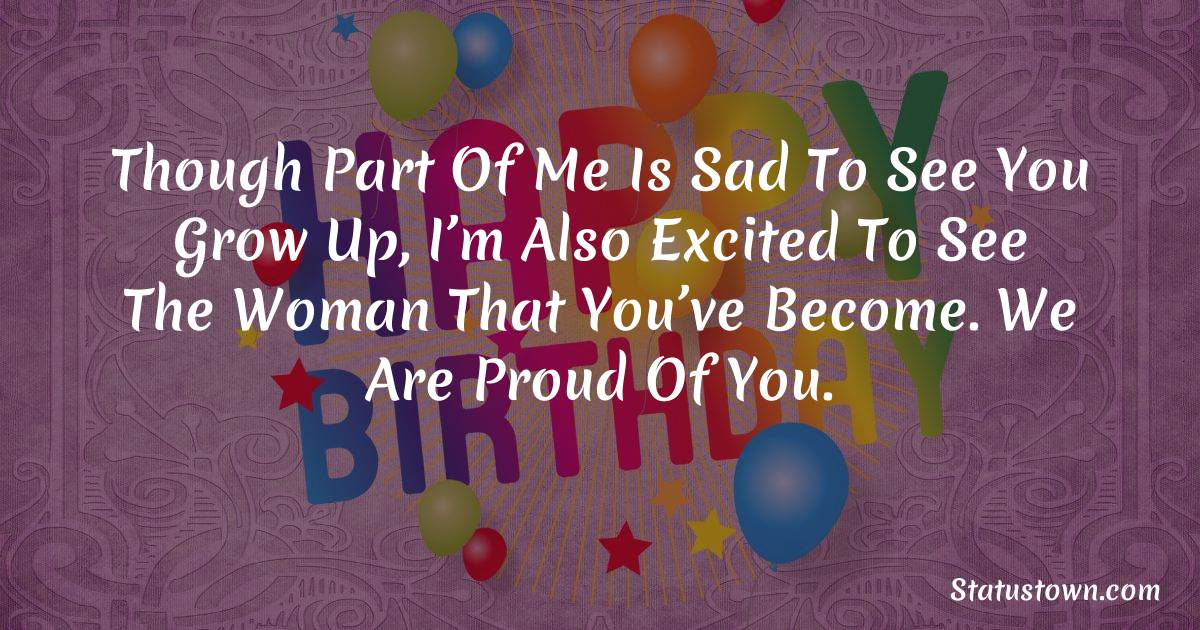 Sweet 18th Birthday Wishes