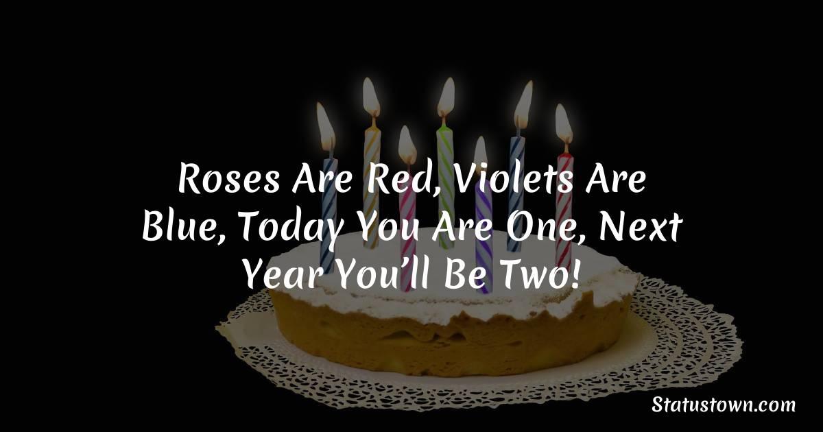Sweet 1st Birthday Wishes