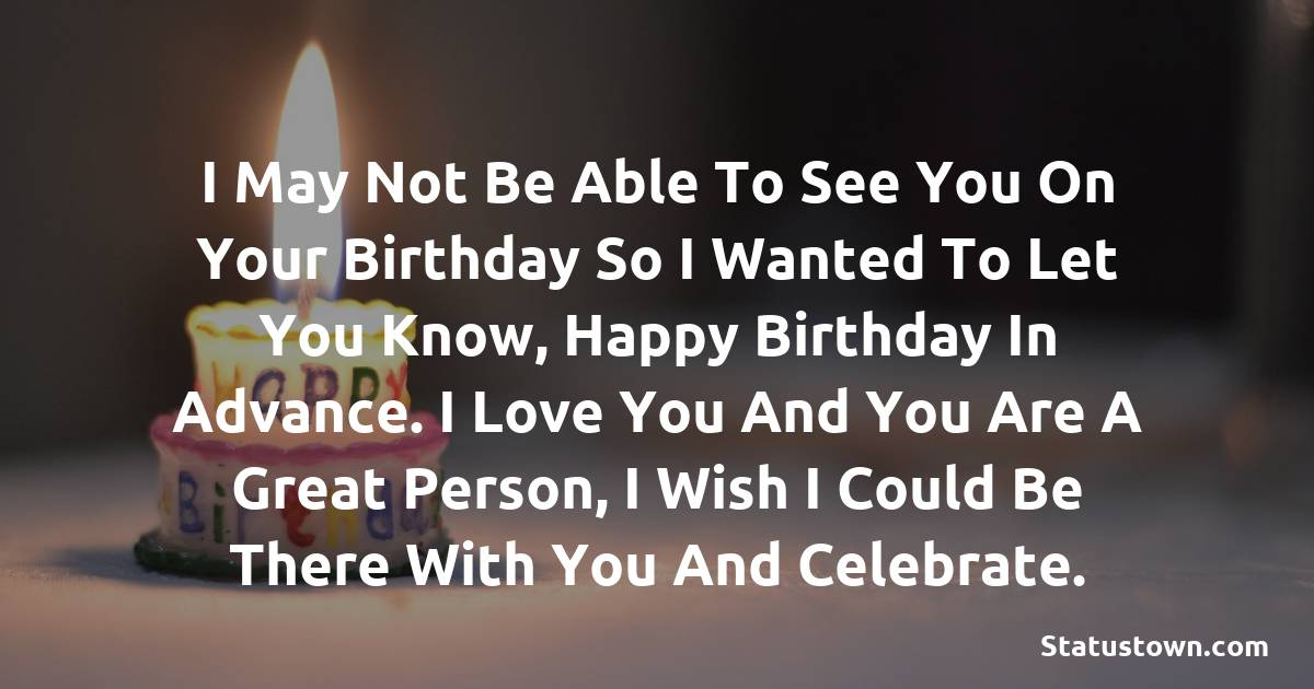 Advance Birthday Quotes