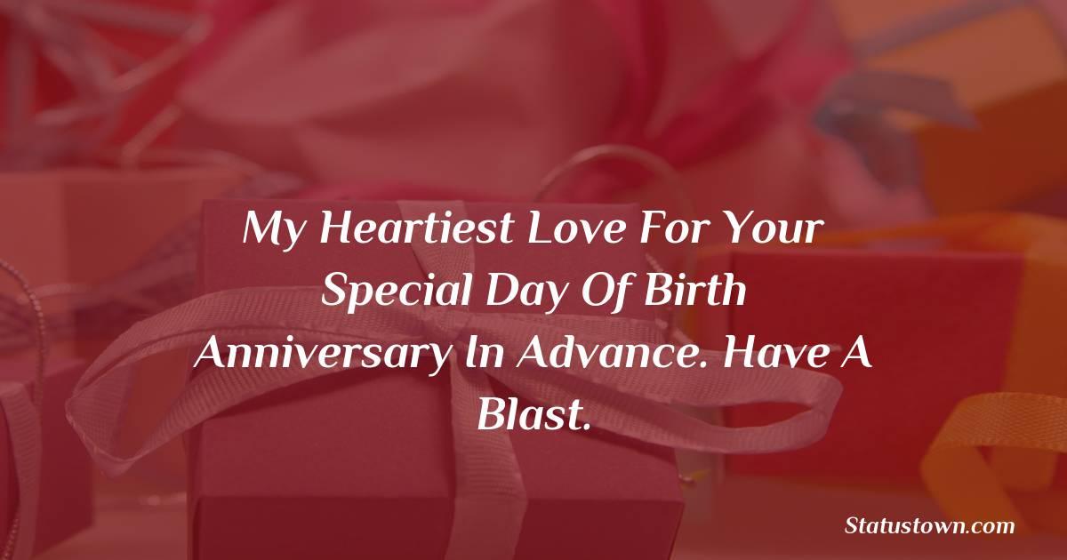 latest Advance Birthday Wishes