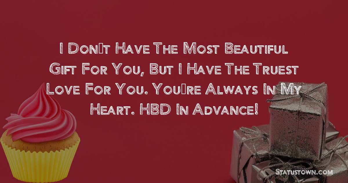 Simple Advance Birthday Wishes