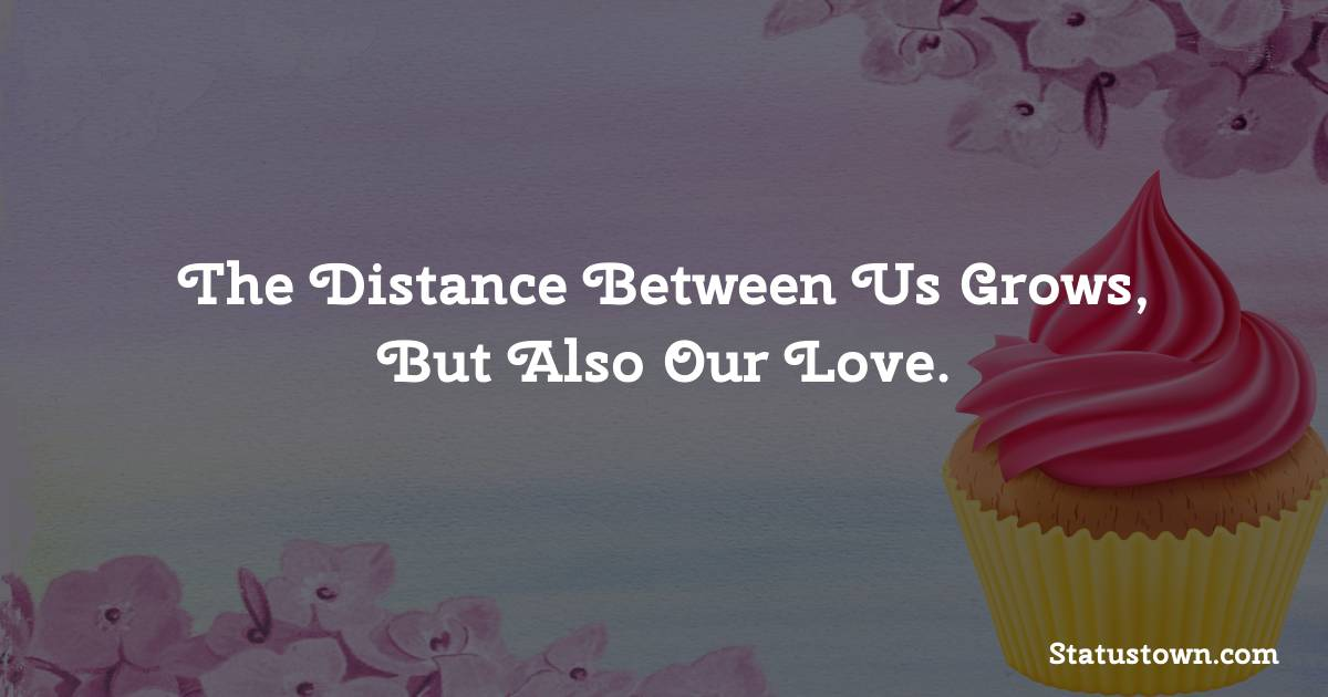 Birthday Wishes for Boyfriend -  The distance between us grows, but also our love.