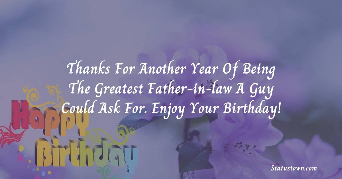 Top Birthday Wishes for Father in Law