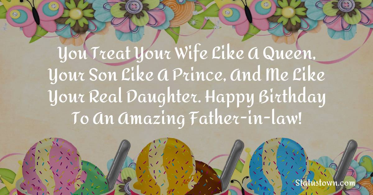 Nice Birthday Wishes for Father in Law