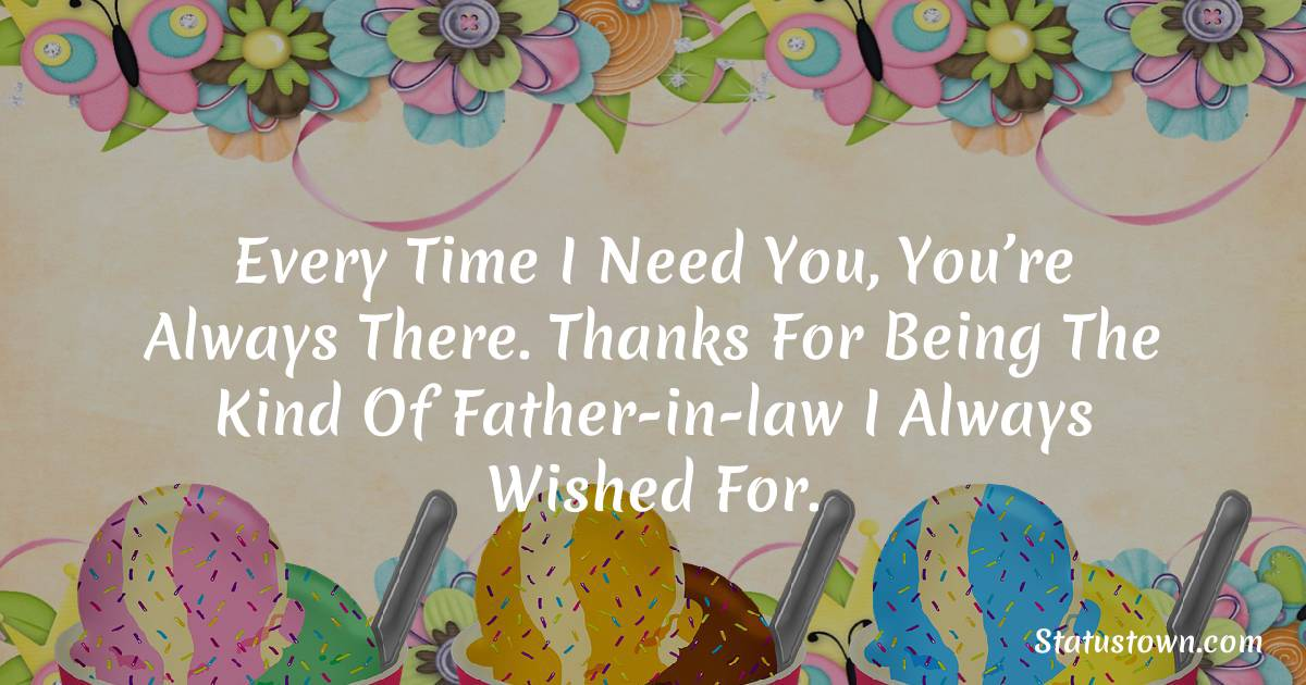 Special Birthday Wishes for Father in Law