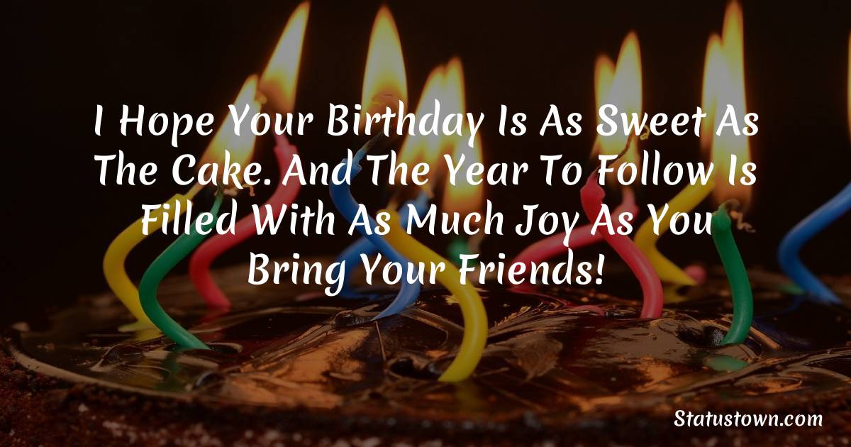 Beautiful Birthday Wishes for Friends