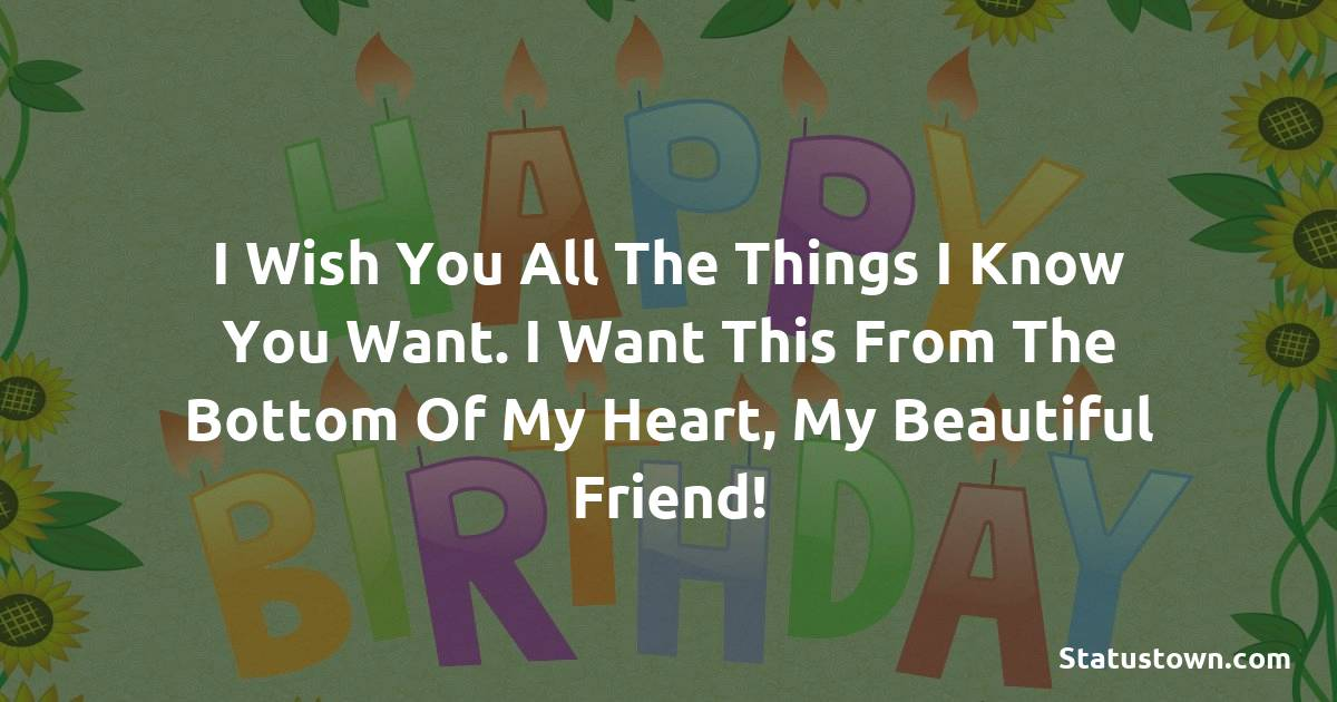 Nice Birthday Wishes for Friends