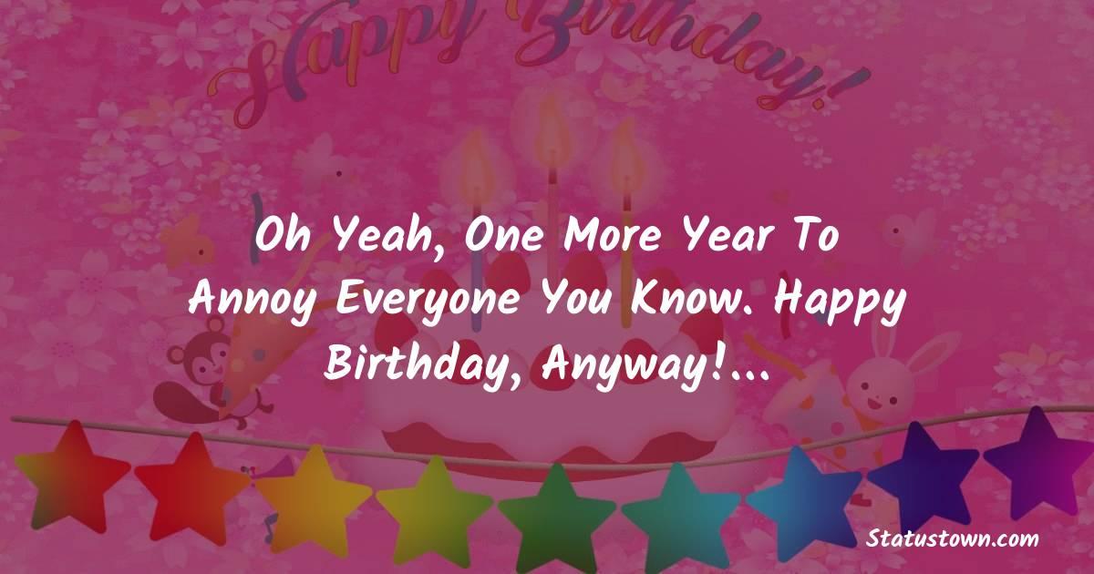 Funny Birthday Status