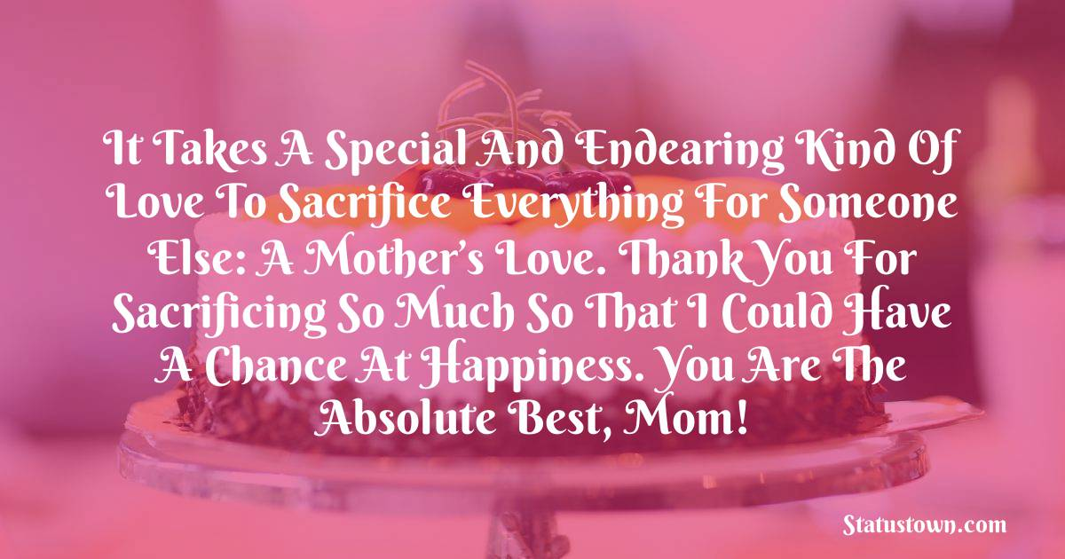 Special Birthday Wishes for Mother