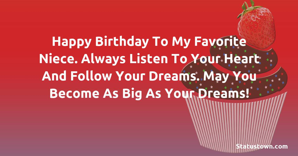 Deep Birthday Wishes for Niece
