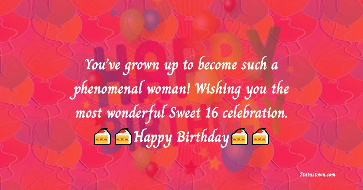Deep 16th Birthday Wishes