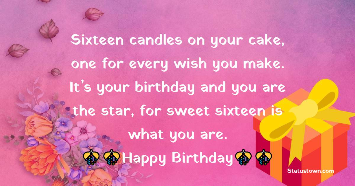 Simple 16th Birthday Wishes