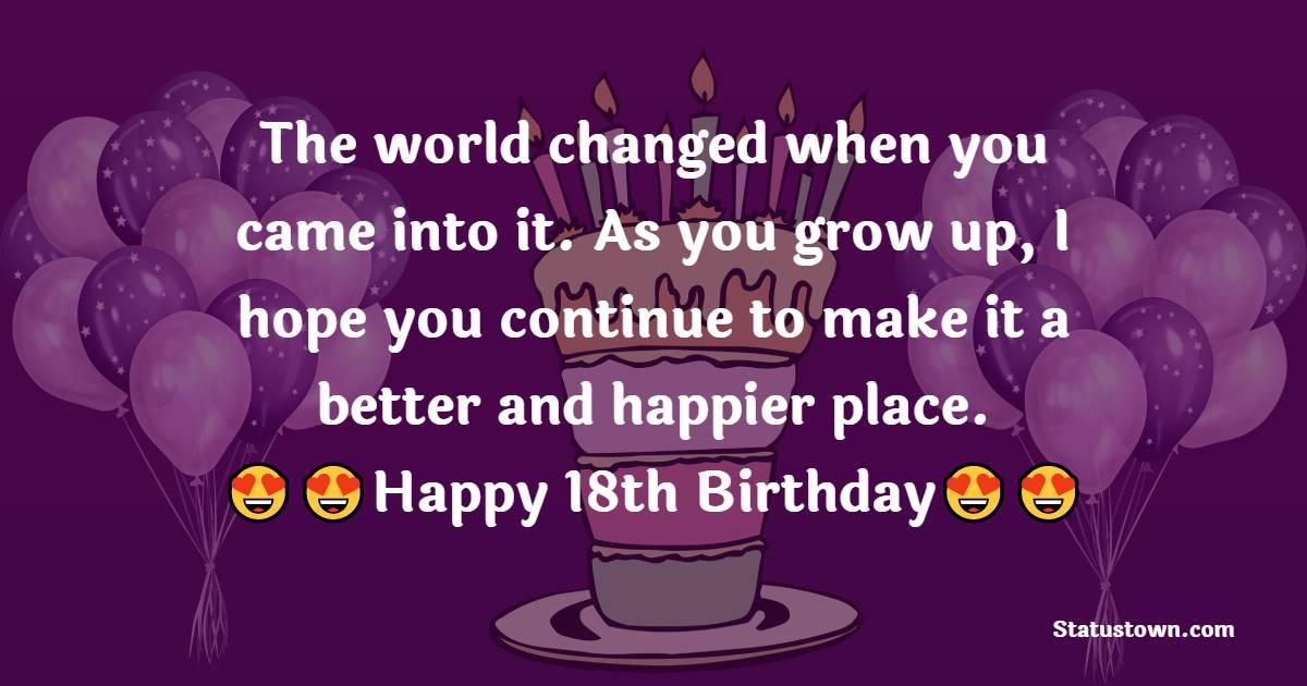 Deep 18th Birthday Wishes