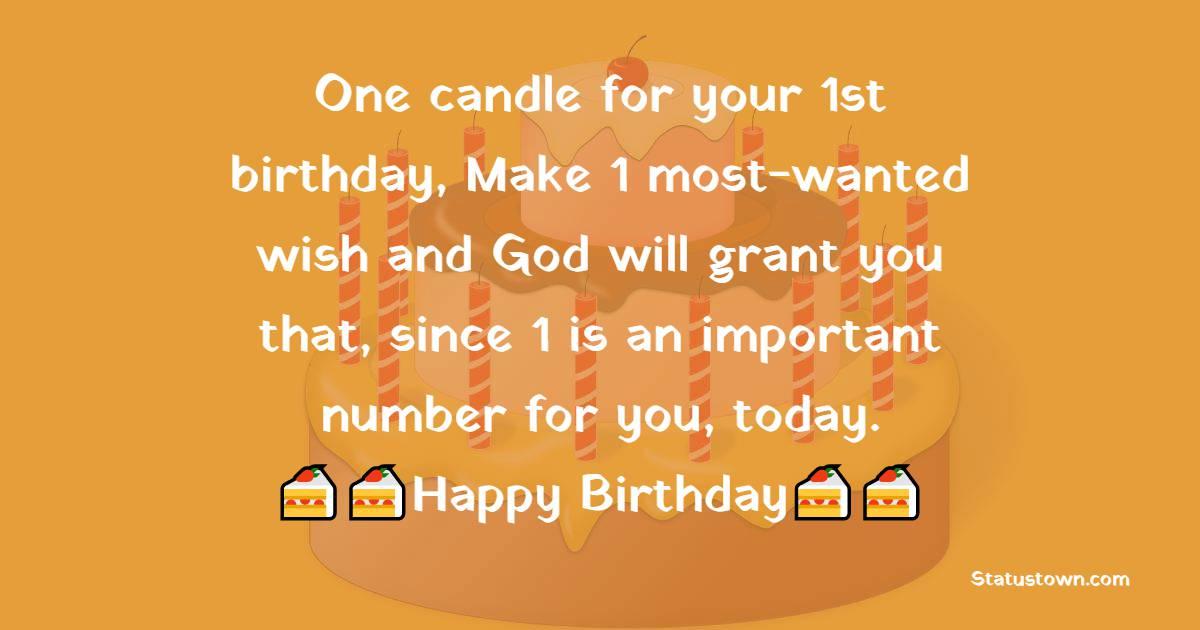 1st Birthday Wishes