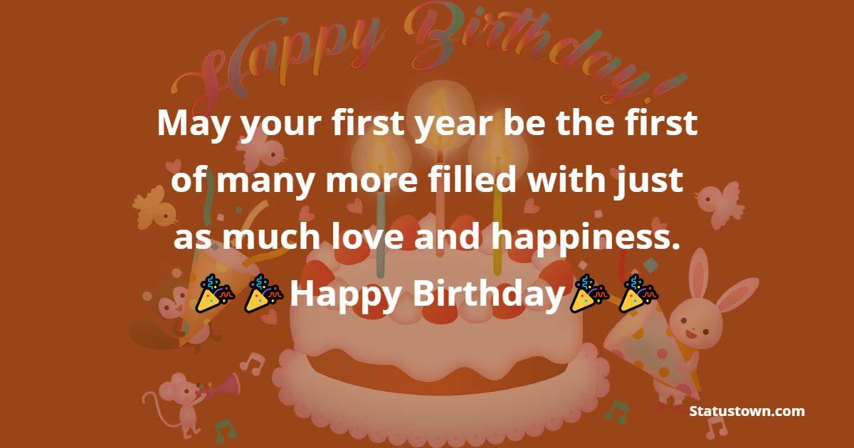 Deep 1st Birthday Wishes