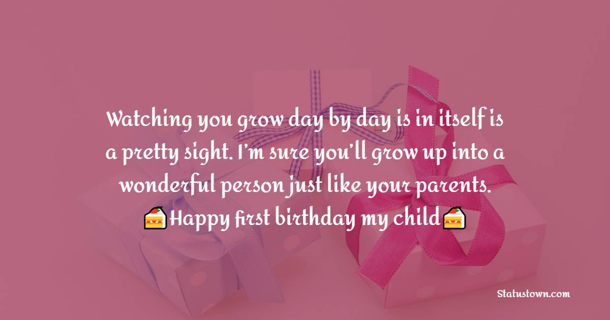 Simple 1st Birthday Wishes