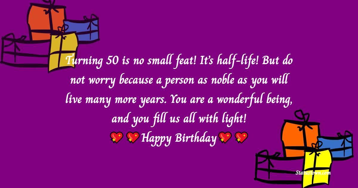 50th Birthday Wishes