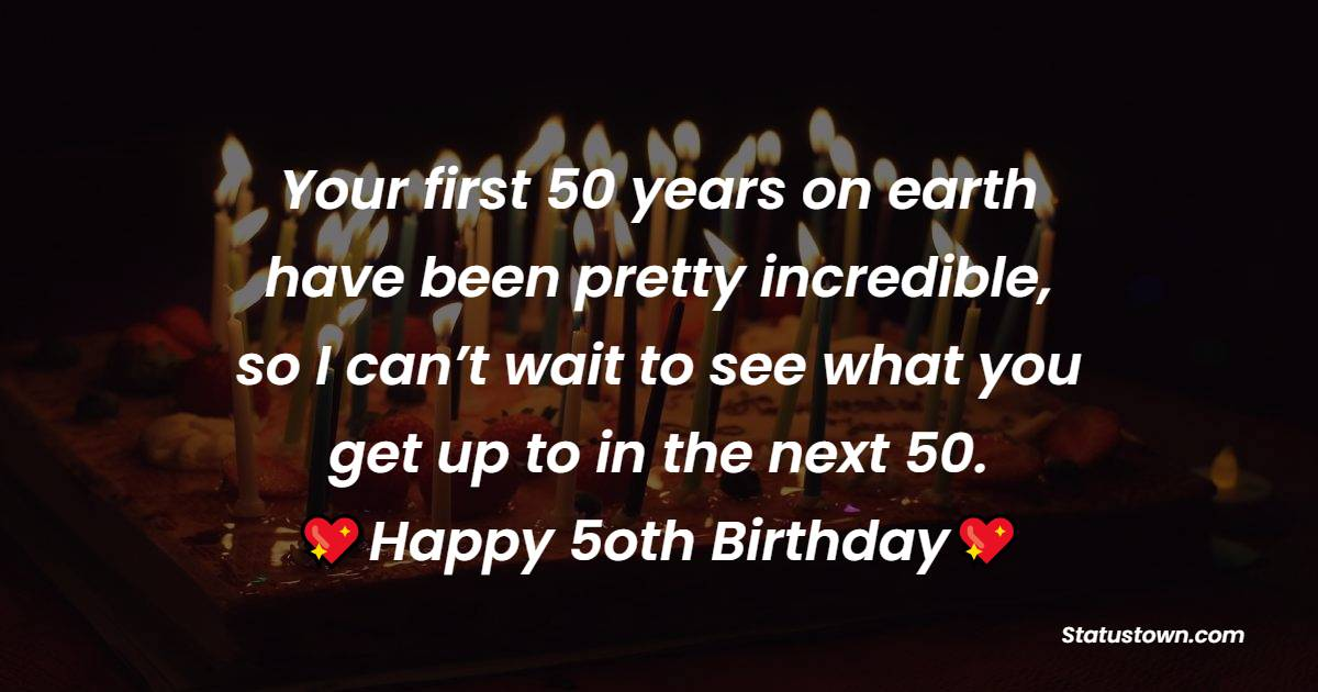 meaningful 50th Birthday Wishes