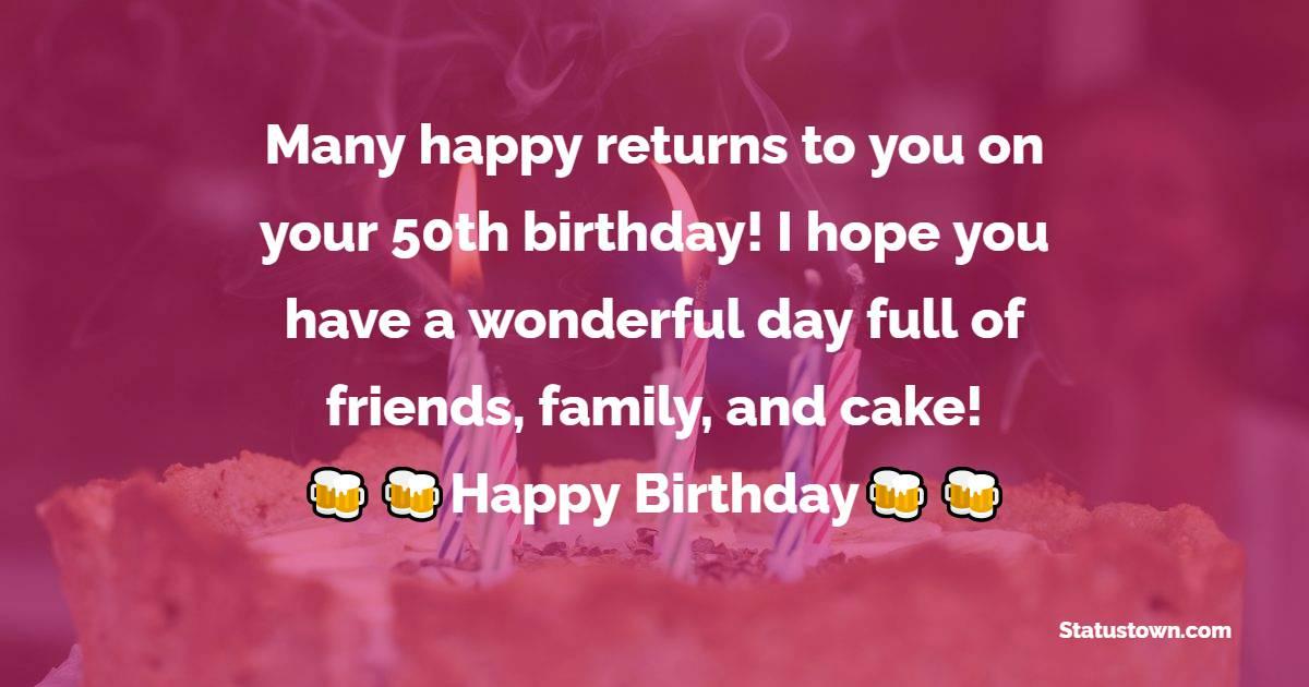 latest 50th Birthday Wishes