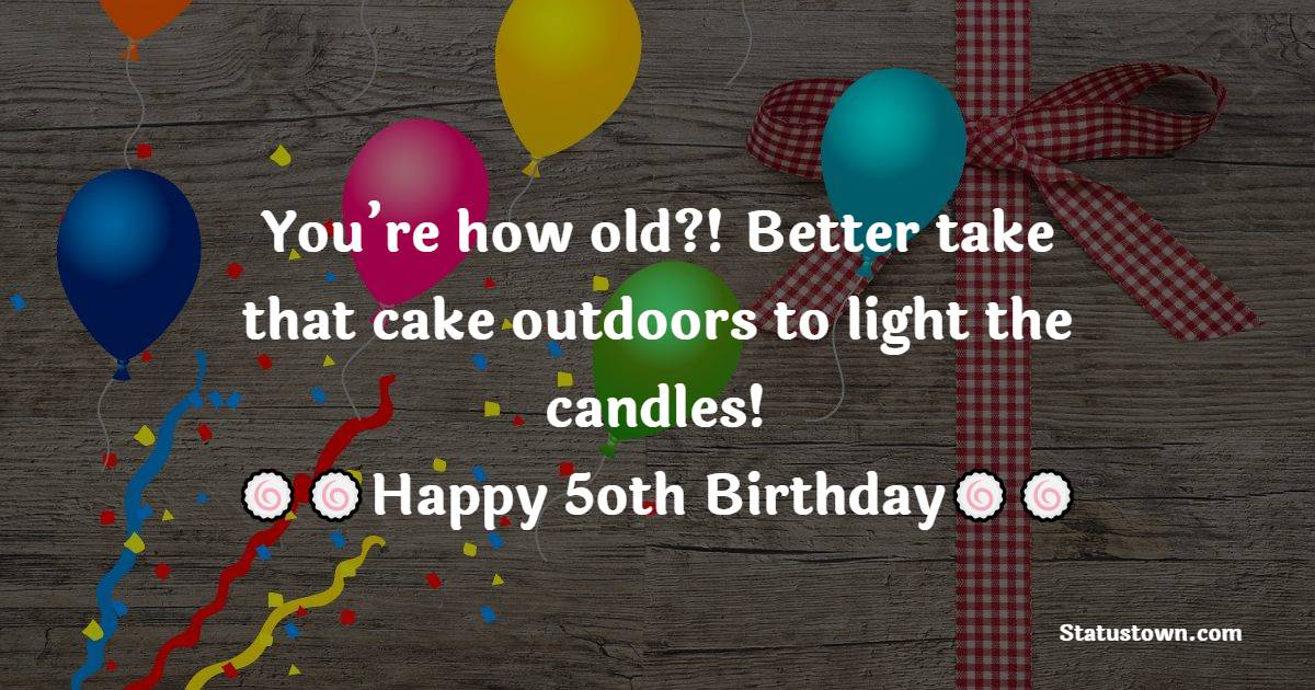 Simple 50th Birthday Wishes