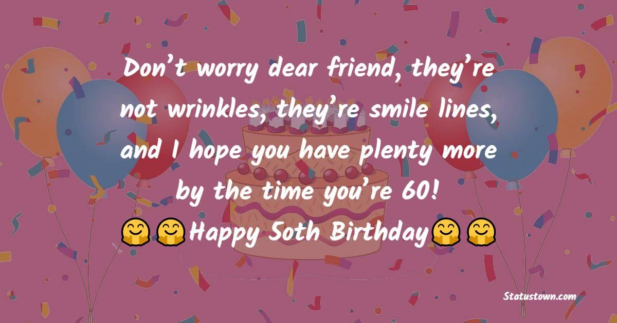 Short 50th Birthday Wishes