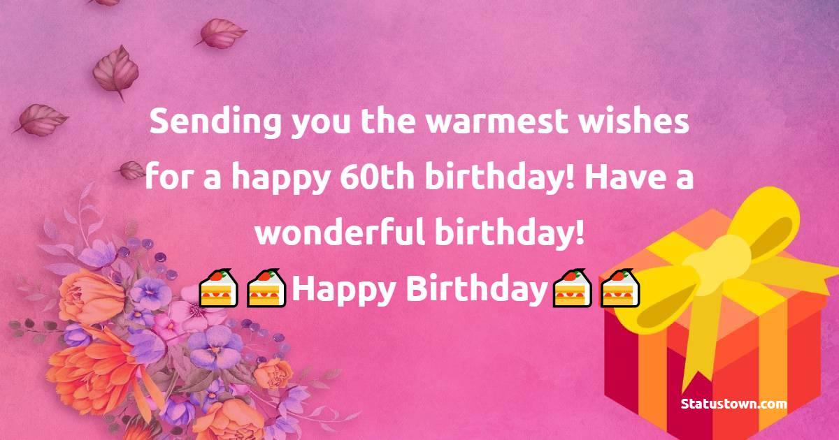 Best 60th Birthday Wishes