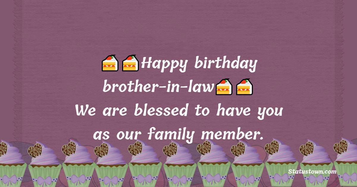 Short Birthday Wishes For Brother In Law