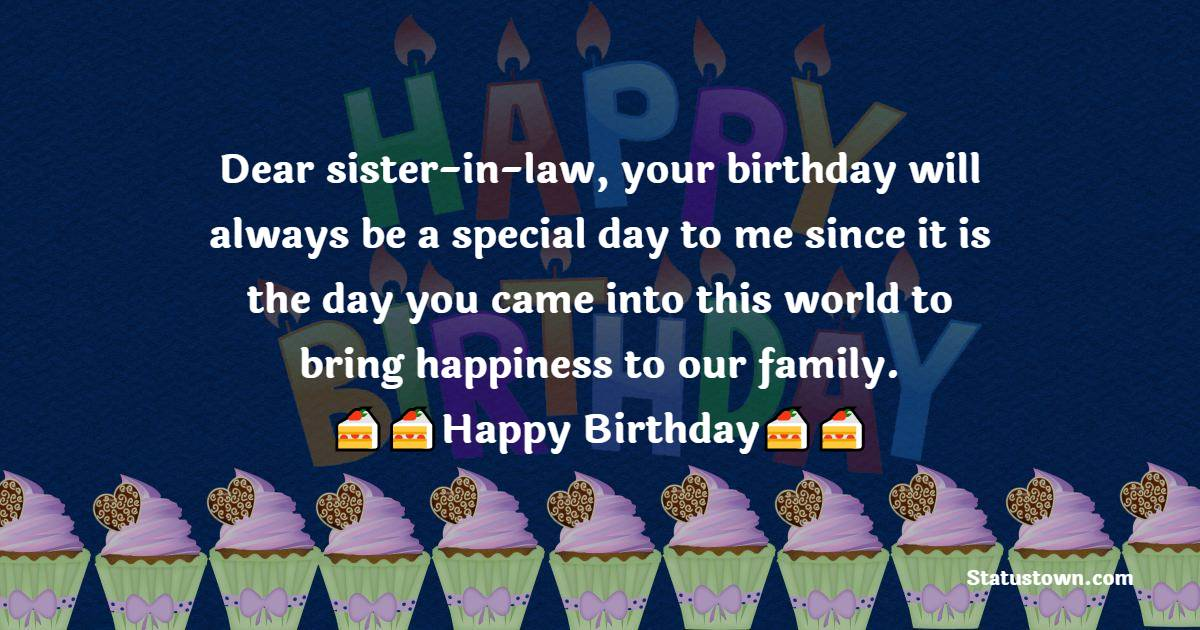 Touching Birthday Wishes For Sister In Law