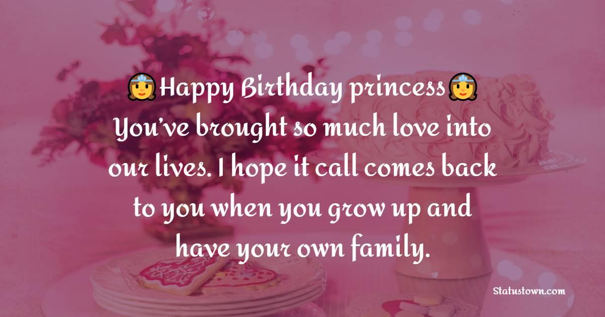 Amazing Birthday Wishes for Baby Girl