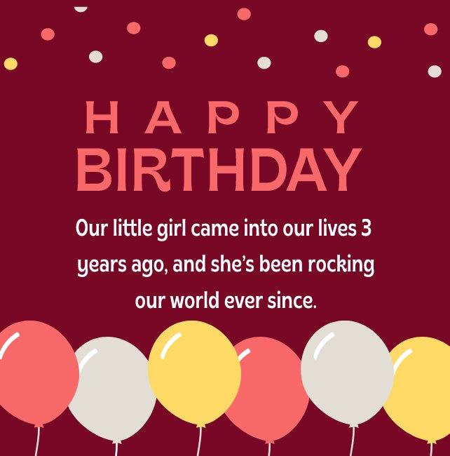 Best Birthday Wishes for Baby Girl