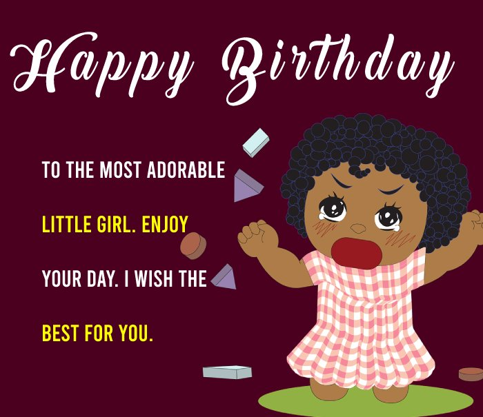 Simple Birthday Wishes for Baby Girl