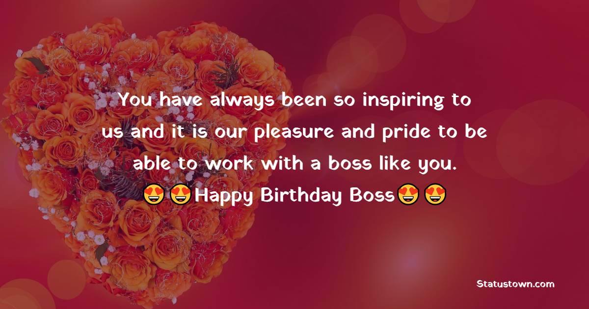 Birthday Text for Boss