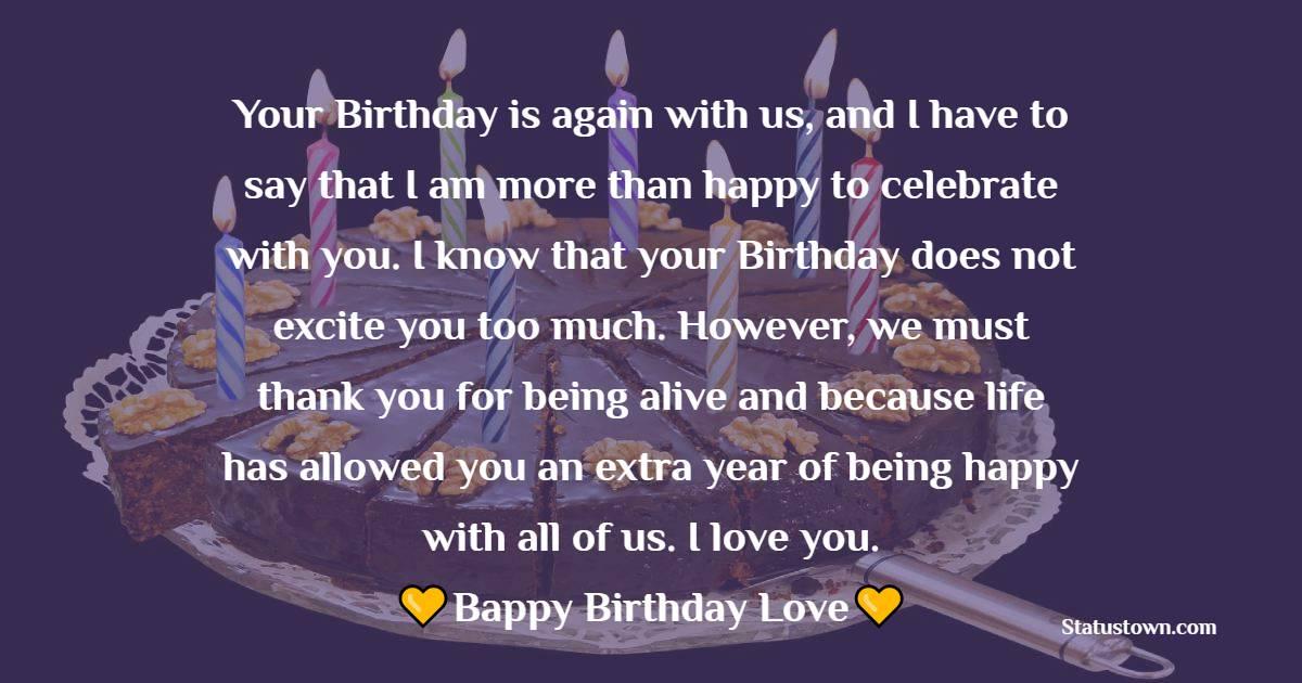 Touching Birthday Wishes for Boyfriend