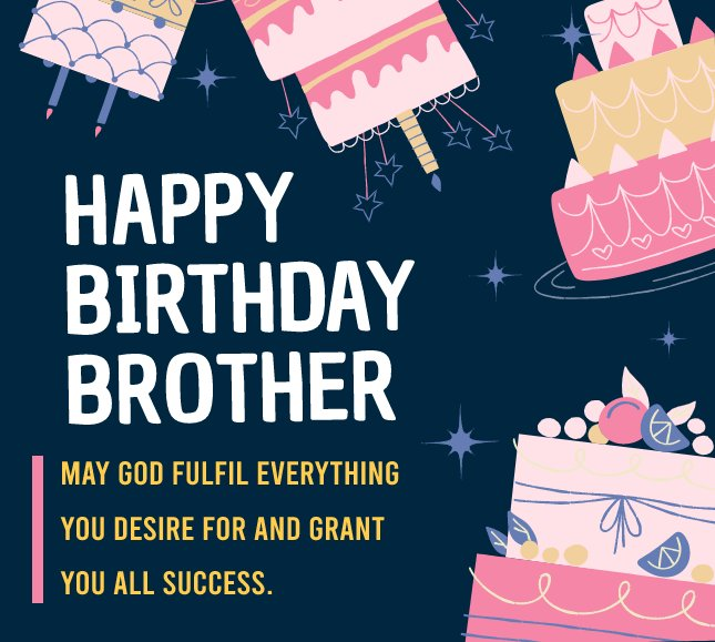 Simple Birthday Wishes for Brother