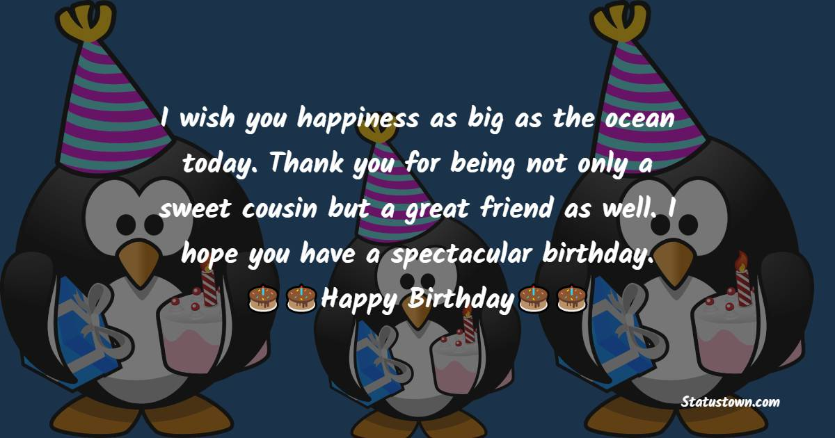 Short Birthday Wishes for Cousin
