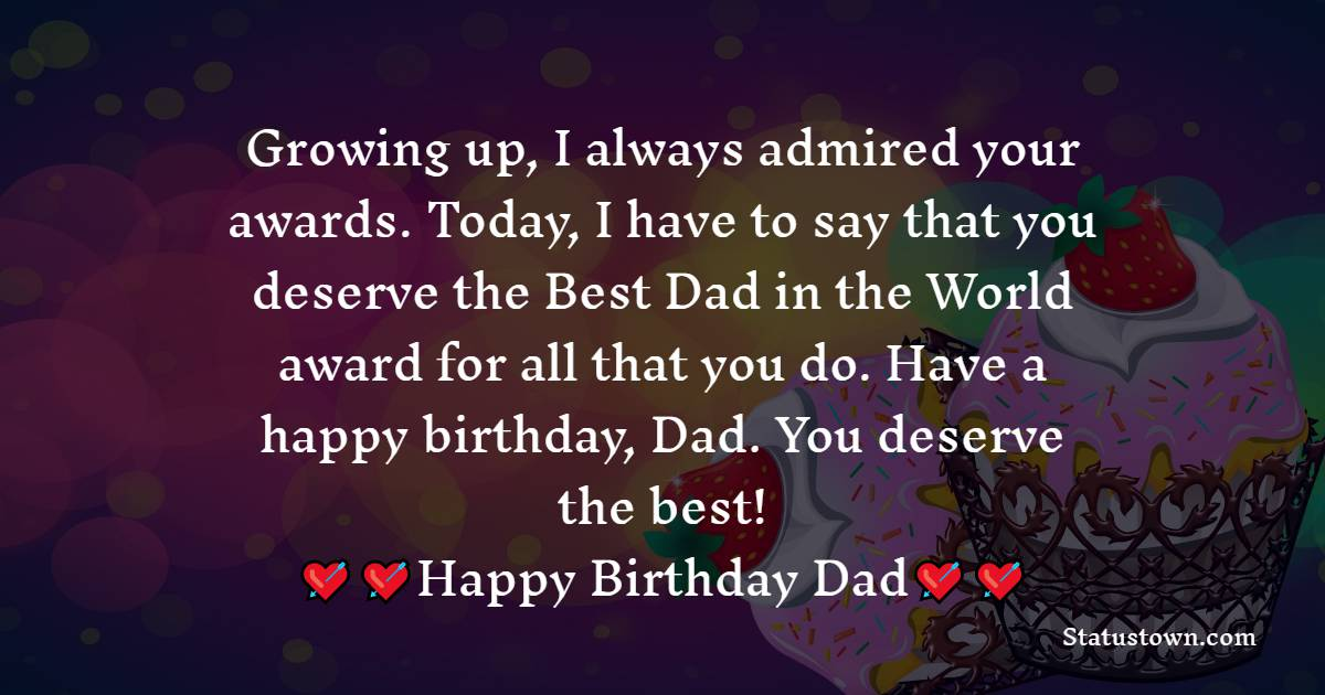 Short Birthday Wishes for Dad