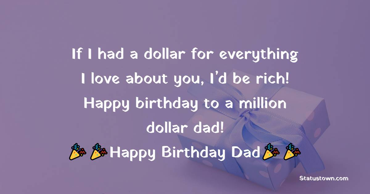 Touching Birthday Wishes for Dad