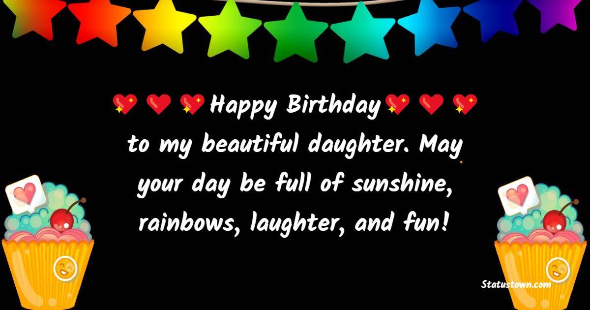 Birthday WhatsApp Status  for Daughter