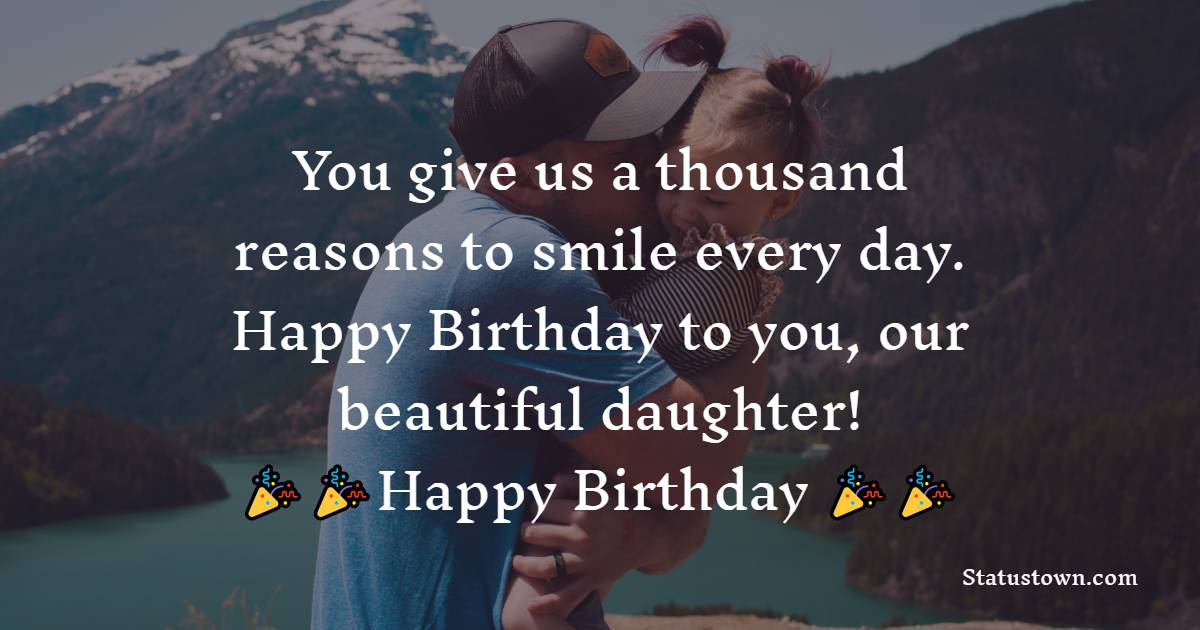 Birthday Status for Daughter