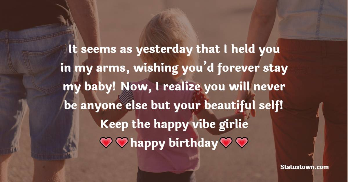 Touching Birthday Wishes for Daughter