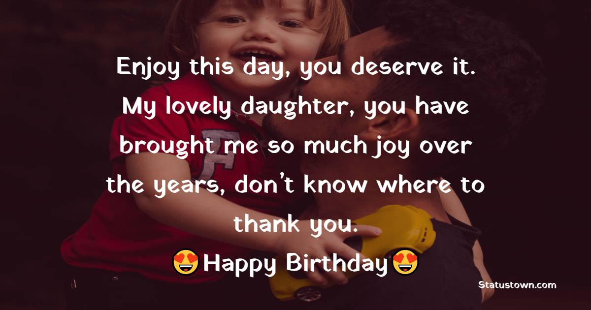 Lovely Birthday Wishes for Daughter