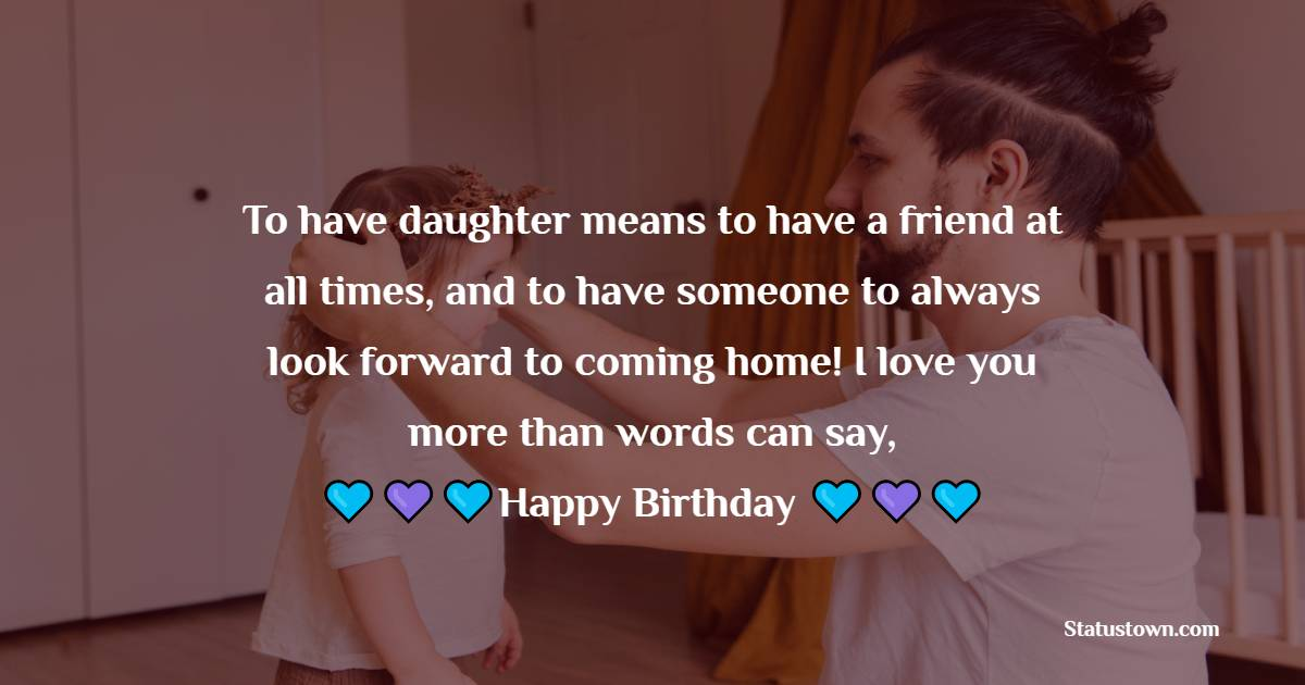 Simple Birthday Wishes for Daughter