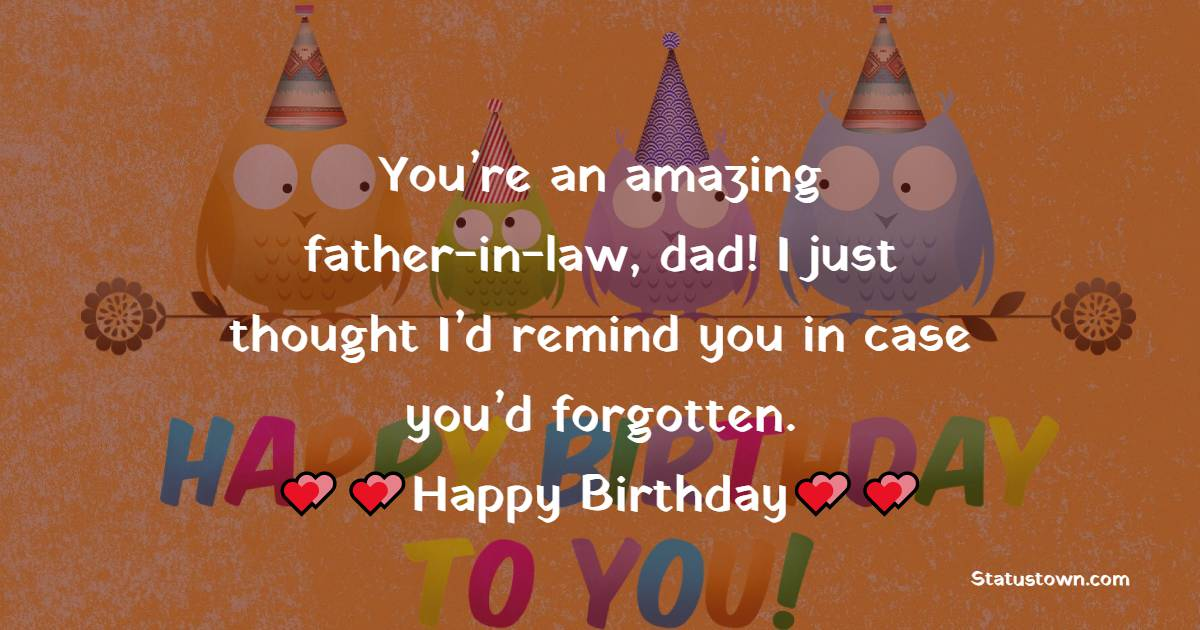 Touching Birthday Wishes for Father in Law
