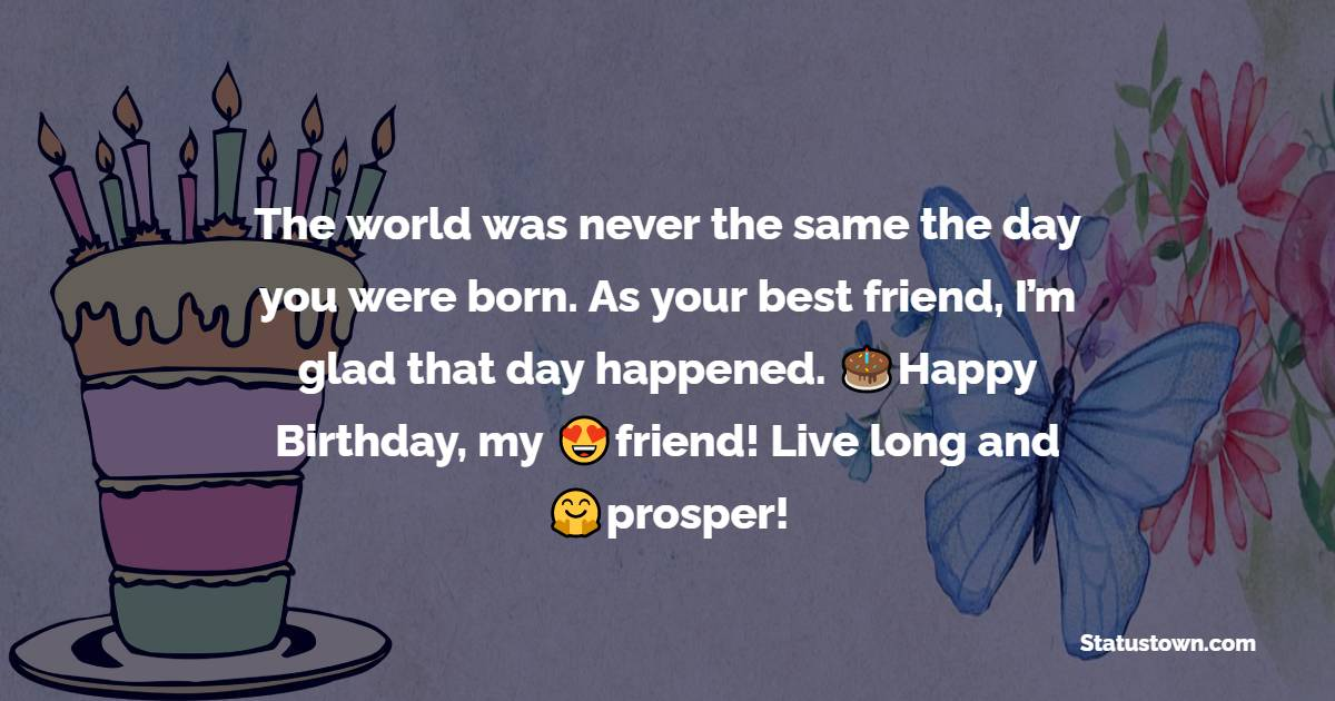 Touching Birthday Wishes for Friends