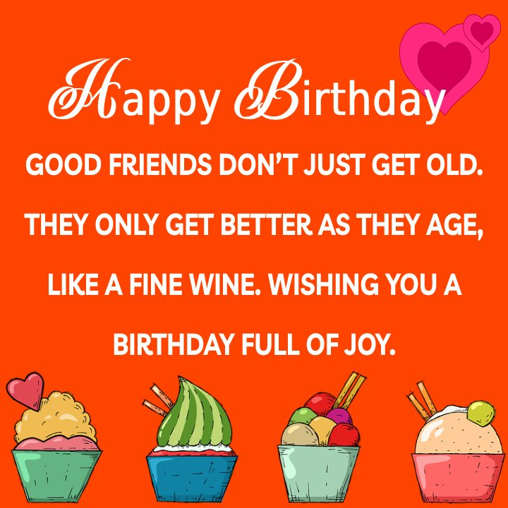 latest Birthday Wishes for Friends