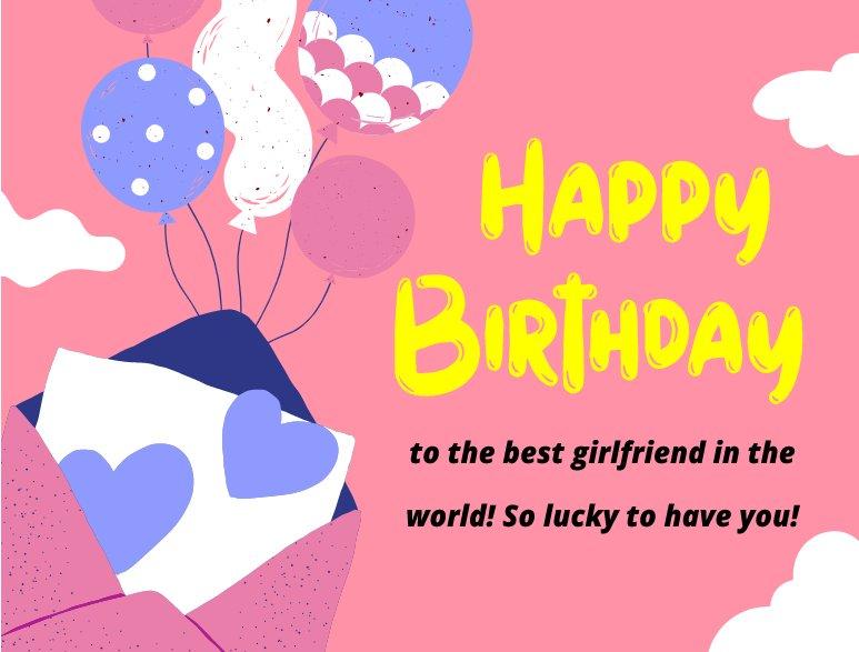 Unique Birthday Wishes for Girlfriend