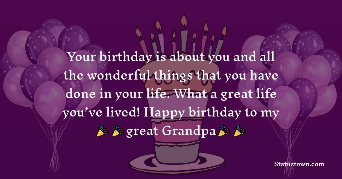 Short Birthday Wishes for Grandfather
